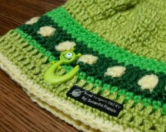Monster Inc crochet hat