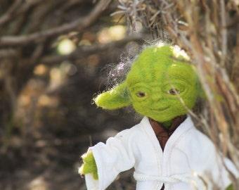 Plush Yoda wool felted
