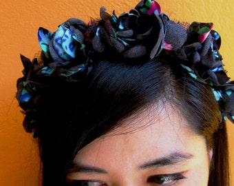 Petal headband - black -
