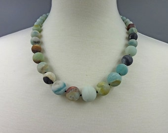 Graduated Matte Amazonite Necklace