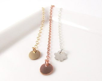 Necklace Extender Chain, Gold Chain Extender for Bracelets, Rose Gold Filled Sterling Silver Removeable Extender
