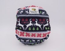 Cloth Diaper *One size or Newborn* All in two, Pcoket, or Cover **Christmas Sweater**