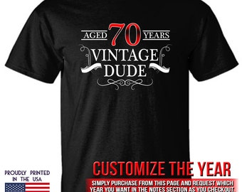 70th Birthday gift Aged 70 Years Vintage Dude Ttd1