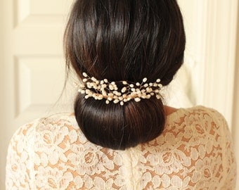 Bridal Hair Comb - Forever Baby Breath Hair Comb - # 4 - Made to Order