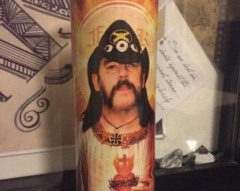 St Lemmy Motorhead Prayer Candle