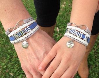 Dirtbags bracelet - baseball mom - baseball sis - team bracelets