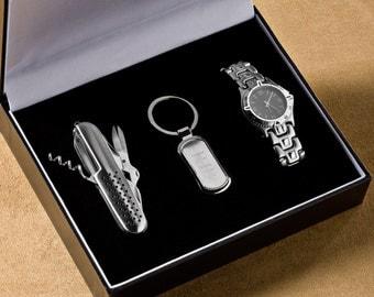 3 Piece Gentlemen's Gift Set (g123-1114) - Free Personalization