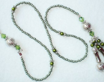Beaded Bookmark - Green