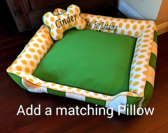 Custom Dog Bone Pillow Add on (Free embroidery)