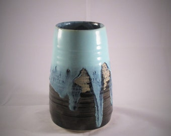 Blue and Black Vase