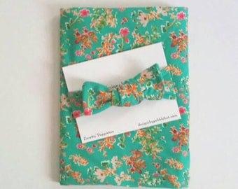 Gift for baby girl, infant swaddle blanket, floral swaddle and bow, baby shower gift, baby girl swaddle set, Choose Hat or Bow