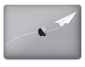 Paper Airplane Tech Decal - notebook decal, computer decal