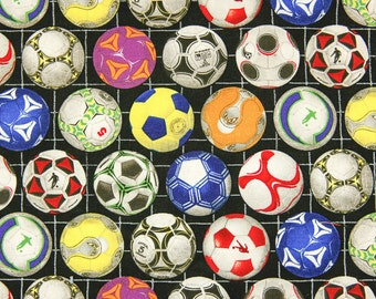 Soccer Balls Quilting Fabric By The Yard