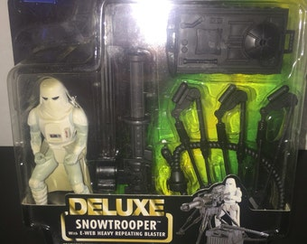 Star Wars Deluxe Snowtrooper E-Web Heavy Repeating Blaster Action Figure