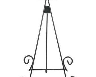 Wrought Iron Easel - Wedding Sign Stand, Jenga Guestbook Sign Stand