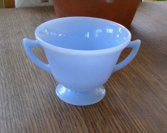 Vintage Pyrex Delphite Blue Sugar Bowl