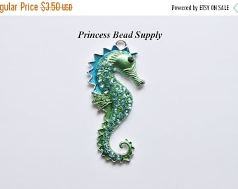 SALE Sea Horse Pendant for Chunky Necklaces,  55mm x 26mm  Pendant, Chunky Necklace Pendant, Sea Horse Cabochon