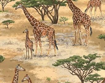 Andover - Safari - Makower UK - TP-1534-1 - Giraffe - Animals - Africa