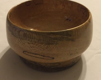 Hand turned spalted sycamore bowl