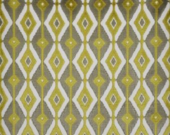 DESIGNER BLAINE SOUTHWEST Ikat Kilim Cut Velvet Fabric 10 Yards Lime Amber