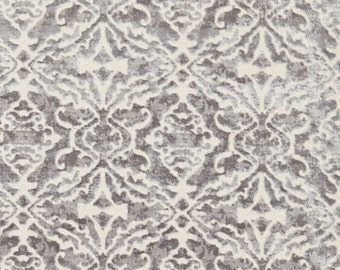 SCALAMANDRE PALAZZO CUT Velvet Damask Fabric 10 Yards Nickel Gray