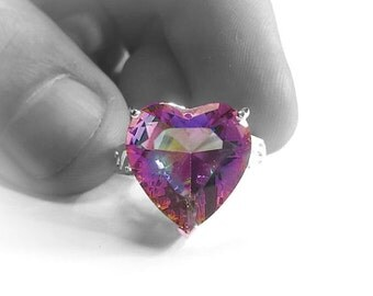 Pink Mystic Gem Silver Ring