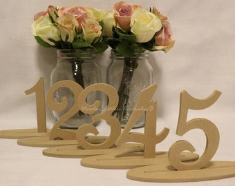 Free standing Wooden Table Numbers