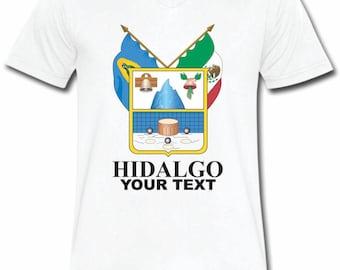 Hidalgo  Mexico T-shirt V-Neck Tee Vapor Apparel with a FREE custom text(optional)