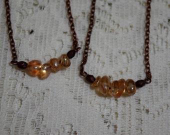 Champagne Quartz Necklace