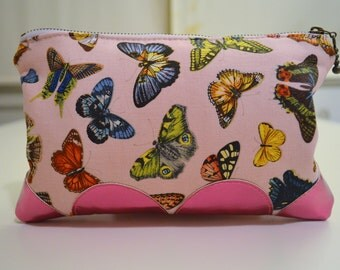 Pink Butterfly Pouch