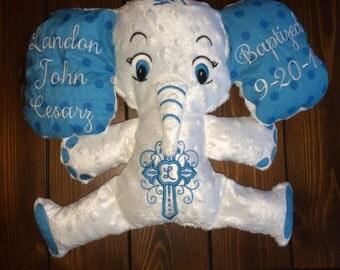 Personalized Stuffed Elephant, Elephant Stuffy, Elephant Lovey, Stuffed Animal, Birth Announcement Stuffed Animal, Baby Gift, Newborn Gift