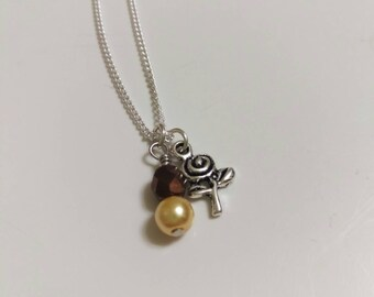 Disney's Belle Inspired Necklace -Beauty and the Beast