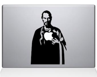 Jesus Steve Jobs apple macbook laptop decal sticker
