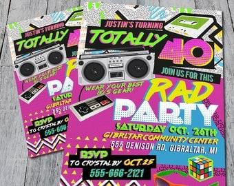 80's Themed Party Invitation
