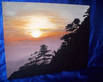 China Sunrise Handpainted Original