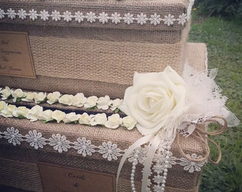 Two tiered wedding card box