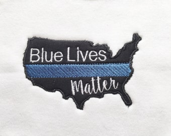 Thin Blue Line Baby- Blue Lives Matter - Police Lives Matter - Police Baby - Police Baby Shower - Law Enforcement Baby - Law Enforcement