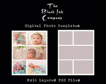 8 x 10 Collage Template #5