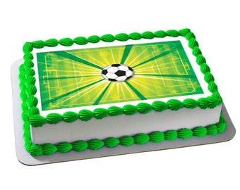 Soccer cake topper, soccer edible cake image, soccer cupcake toppers, soccer cookie toppers, soccer party, soccer cake, soccer cupcakes