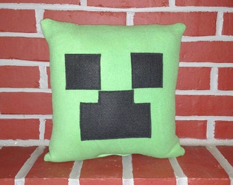 Inspired by Minecraft Square Face Pillow