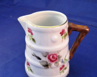 Anqitue Ceramic Creamer Pitcher - Hand Painted