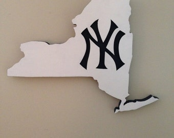 New York Yankees, Wooden Sign, MLB, Baseball Logo