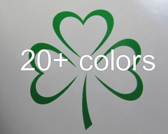 Shamrock Vinyl Decal / Sticker *Available in 24 Colors* | Irish | Clover | Luck