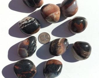 Beautiful Tumbled SARDONYX Healing Gemstone// Tumbled Stones// Polished Sardonyx// Healing Crystals// Healing Tools// Root Chakra