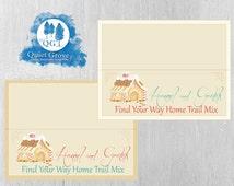INSTANT DOWNLOAD Hansel & Gretel Find Your Way Home Trail Mix Bag Topper// Fairytale// Vintage style (Digital File) No. 242