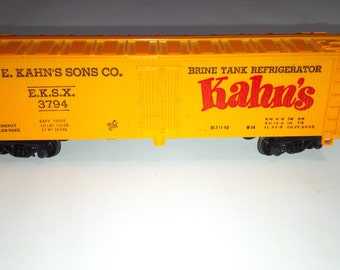 Vintage Mantua HO Scale Model Railroad Train Kahn's Refrigerator EKSX3794 Boxcar
