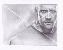Pencil Drawing ' the rock - dwayne johnson  ' A4, A5, A6 Portrait Print [Custom Art available] wwe wrestling fast and furious