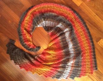Spiral Shawl Crochet Pattern