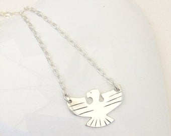 Sterling silver eagle necklace. silver eagle,  handmade silver necklace, 925 silver necklace