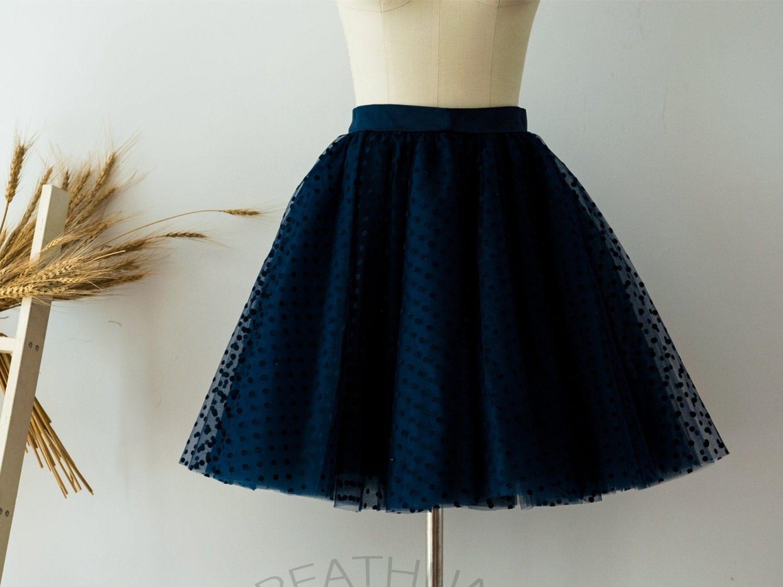 navy blue polka dots tulle skirt tulle skirt tutu